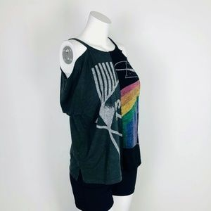 Lucky Brand Tops - Lucky Brand Pink Floyd Dark Side Moon Graphic Tee